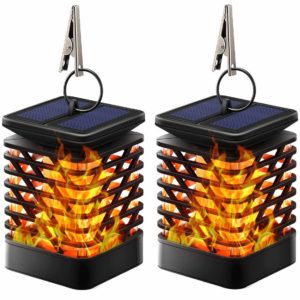 tomcare solar lights solar lanterns dancing flame