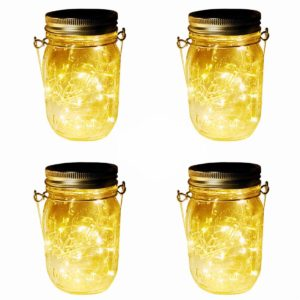 solar mason jar lights 4 pack 20 leds