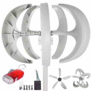 happybuy wind turbine 600w white lantern
