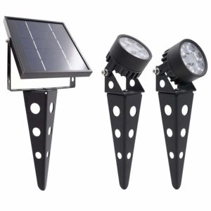 runner up mini 50x 3 twin solar powered led spotlight