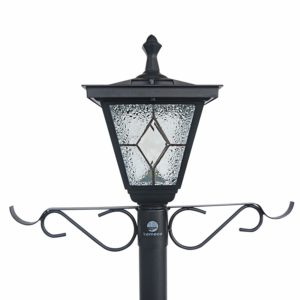 another favorite kemeco cast aluminum solar lamp post light with planter arm hook