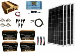 windynation 400w solar panel kit 1500w vertamax power inverter agm battery bank