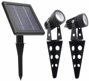 mini 50x twin solar powered spotlight