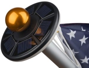 sunnytech 2nd-generation solar flagpole light