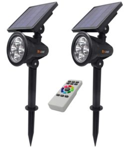 itscool colored solar spotlights