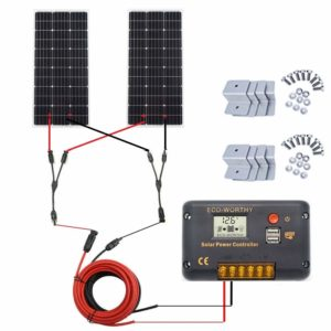 eco worthy 200 watt monocrystalline solar panel complete rv kit