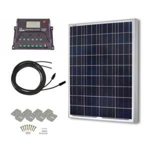 hqst 100 watt polycrystalline solar panel rv kit