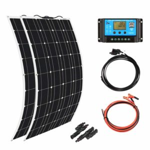 xinpuguang semi flexible 200w solar panel cell for rv